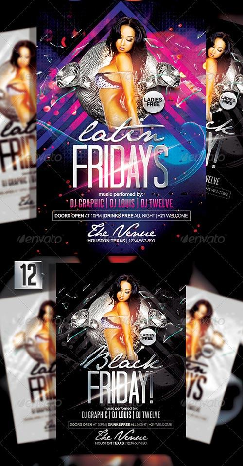 Latin Fridays + White Affair   Flyer + FB Covers