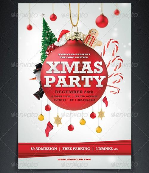 Xmas Party Flyer Template