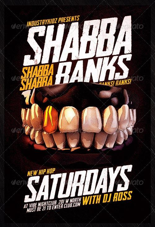 Shabba Ranks Flyer Psd