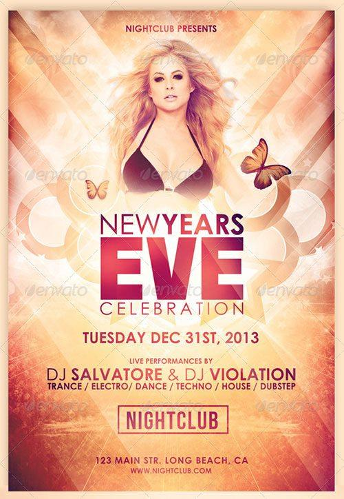 Glamorous New Years Eve Flyer