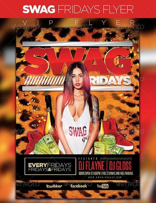 Swag Fridays Party Flyer