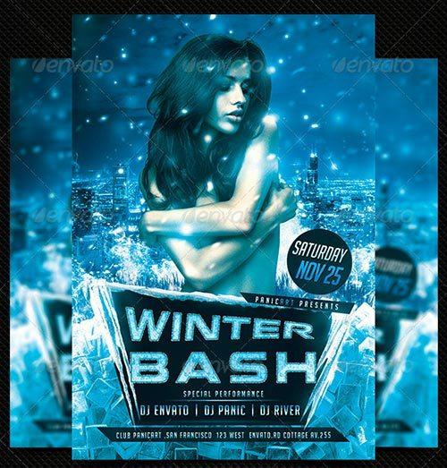 Best 20 Winter Bash PSD Flyer Templates to download at Flyersonar.com