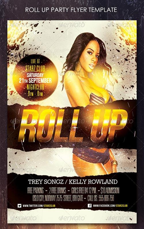 Roll Up Party Flyer Template