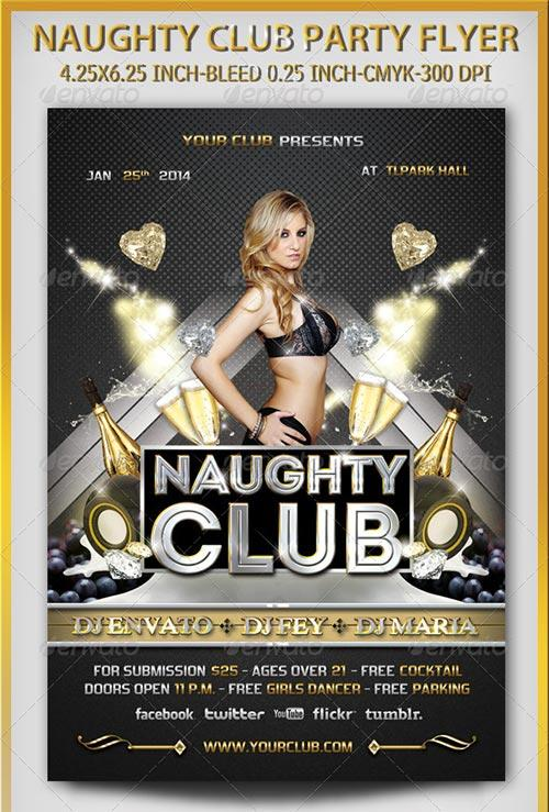 Naughty Club Party Flyer