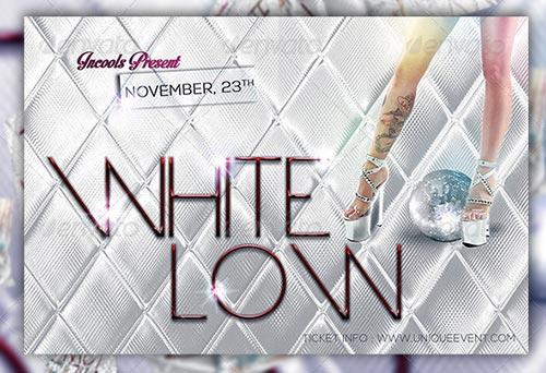 White Low Flyer Template