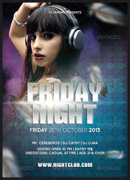 Friday Night Flyer Template