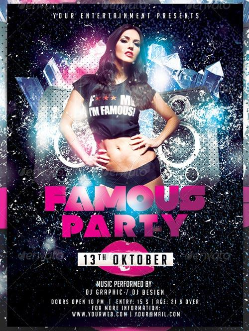 Famous Party Flyer