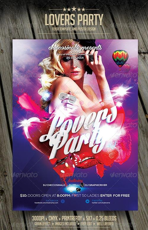 Lovers Party Flyer Template