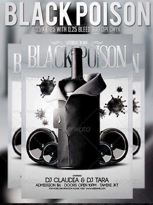 Black Poison Flyer Template