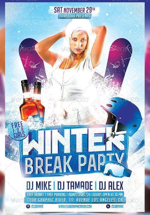 Winter Break Party Flyer Template