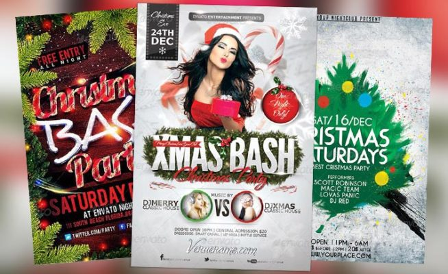 Best 20 Christmas PSD Flyer Templates