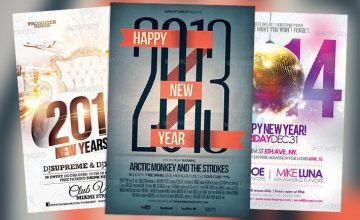 Best 20 New Year PSD Flyer Templates