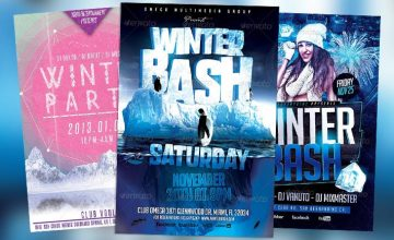 Best 20 Winter Bash PSD Flyer Templates