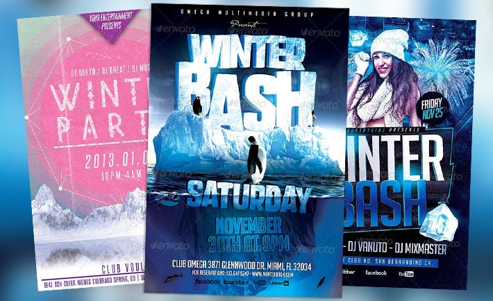 Best 20 Winter Bash Psd Flyer Templates Download Psd For Photoshop