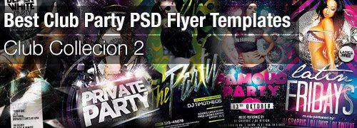 Best Club Party PSD Flyer Templates Collection 2