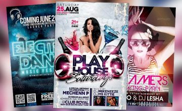 Best Club Party PSD Flyer Templates Collection No.1