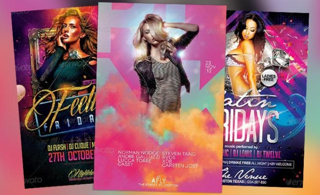 Best Club Party PSD Flyer Templates Collection No.2