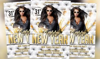 Free Flyer: New Year Party Free PSD Flyer Template