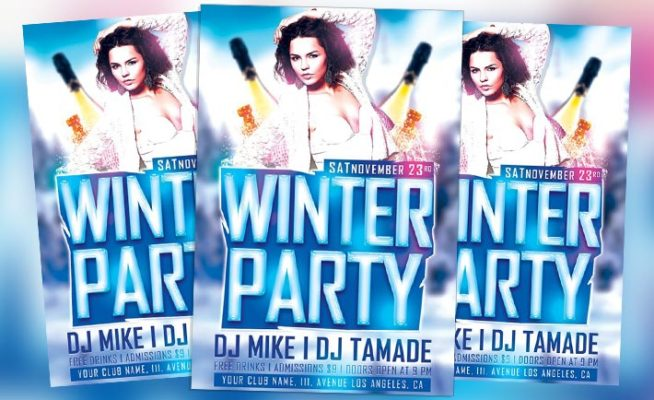 Free Flyer: Winter Bash Free PSD Flyer Template
