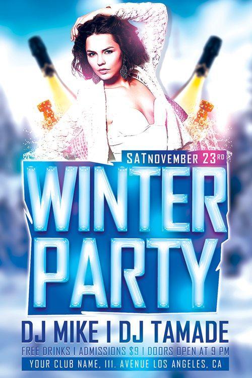 Flyer: Winter Bash Free PSD Flyer Template