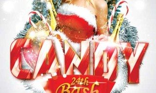 Featured Flyer: Xmas Candy Bash Christmas Flyer Template
