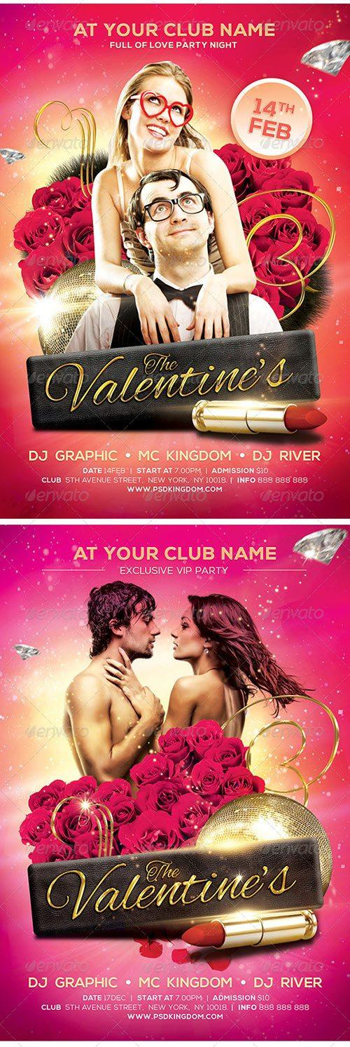 Valentine's Party Flyer Templates 4x6