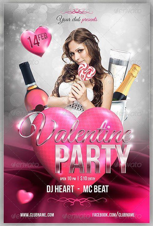 Valentine Party Flyer 4x6