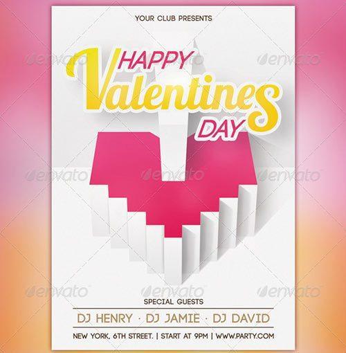 Valentine's Day Party Flyer V2