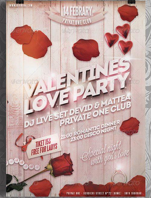 Valentines Love Party Flyer/Poster