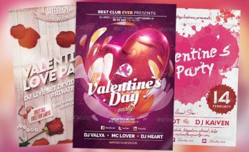Best 20 Flyer Templates for Valentine's Day