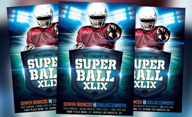 Featured Flyer: Super Ball Game XLIX Flyer Template