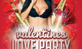 Download Free Valentines Day Love Party Flyer Template