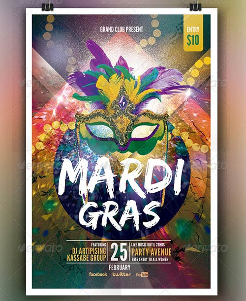 Mardi Grass | Party Flyer