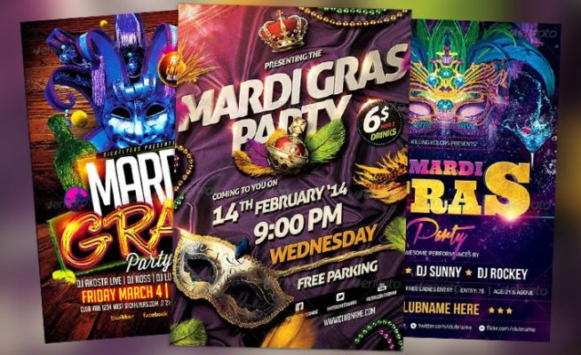 Best 20 Mardi Gras Flyer Templates Collection