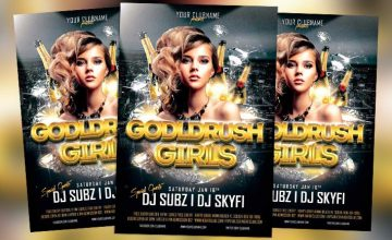 Featured Flyer: Goldrush Girls Club Party Flyer Template