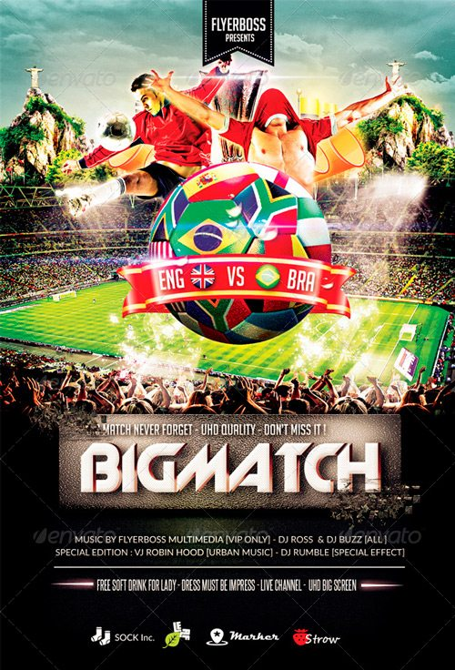 The Bigmatch Flyer Template