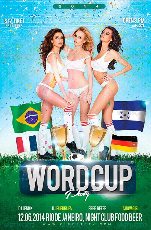 Flyer Night World Cup Party