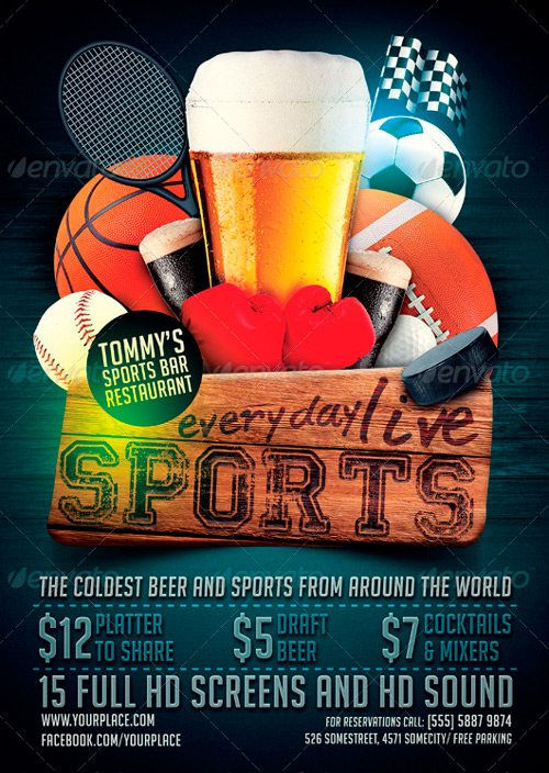 Sports Bar Flyer Template