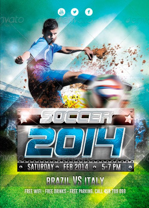 Soccer Cup 2014 Flyer Design