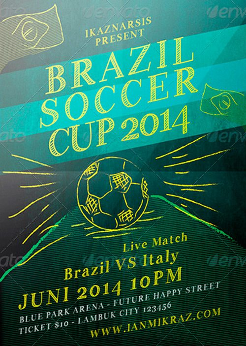 Brazil Soccer Cup Flyer Templates