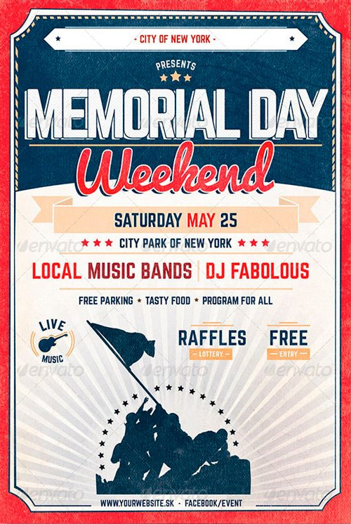 Best 10 Memorial Day Flyer Templates Collection Graphicriver