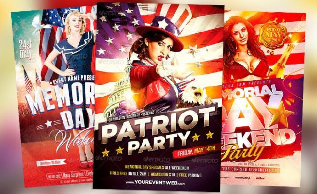 Best 10 Memorial Day Flyer Templates Collection