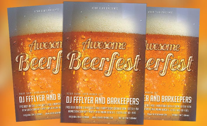 Free Flyer: Awesome Beerfest Flyer PSD Template