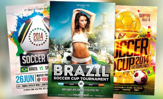 Top 25 Best Euro Soccer PSD Flyer Templates 2014