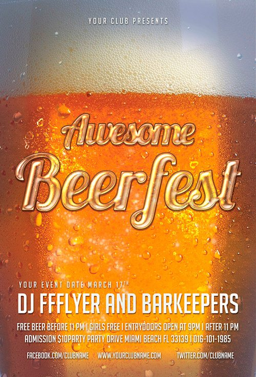 Free Flyer: Awesome Beerfest Free Flyer Template