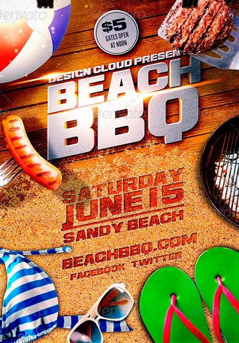 Beach BBQ Flyer Template