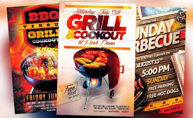 Best 10 BBQ Summer Party Flyer Templates Collection