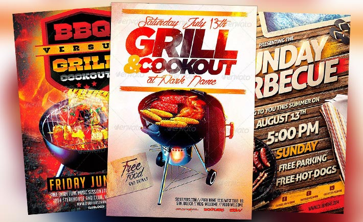 bbq benefit flyers