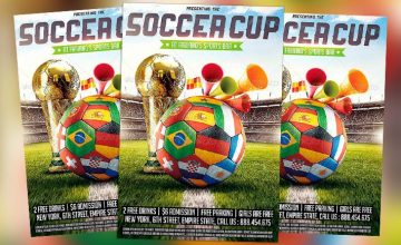 Featured Flyer: Brazil Soccer Cup Football Flyer