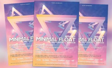 Minimal Float Electro Free PSD Flyer Template